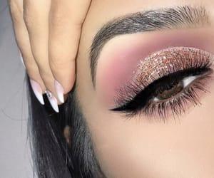 eyes, pink, and eyeshadow image