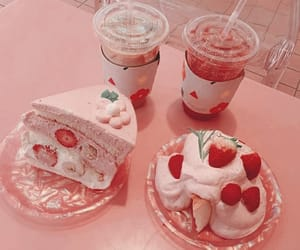pink, food, and cake image