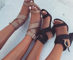 heels, nudes, and shoes image