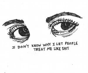 sad, eyes, and quotes image