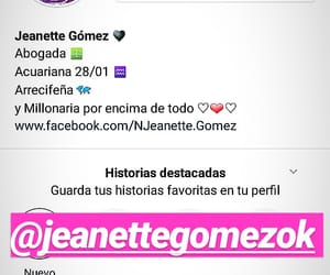 jeanette, perfil, and seguir image