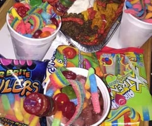 candy, food, and nachos image