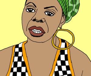 art, blues, and caricatura image