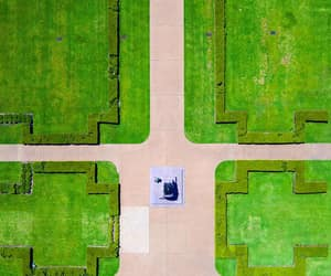 aerial photography, campus, and lime image