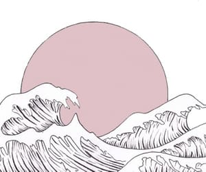 ocean, overlay, and pink image