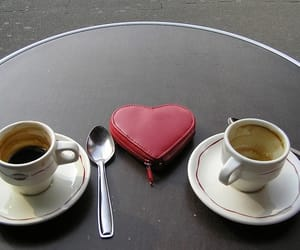 drink, spoon, and cafe image