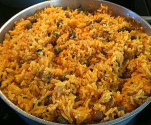 food, rice, and puerto image