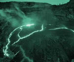 green, landscape, and volcanic image