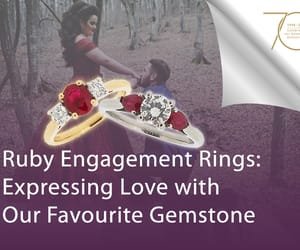 engagement ring, ruby, and ruby engagement rings image