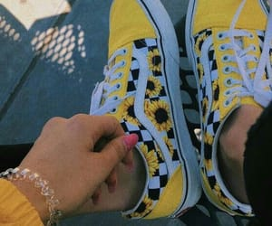 checkers, sunflower, and vans image