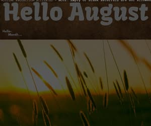 hello august, August, and month of august image