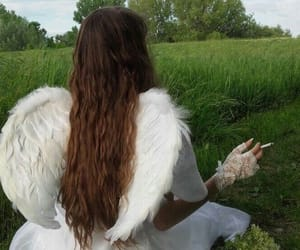 angel, cigarette, and angelic image