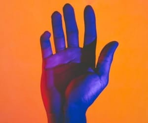 orange, aesthetic, and hand image