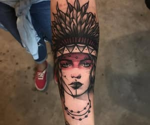 Apache, tatuaje, and mujer image