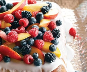 cake, FRUiTS, and healthy image