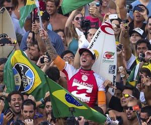beach, brasil, and surf image