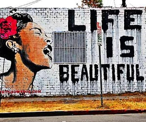 life, beautiful, and graffiti image