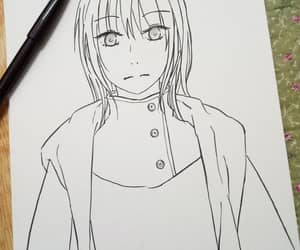 blackandwhite, draw, and mangaart image