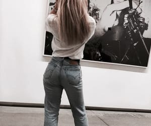 blonde, chic, and denim image