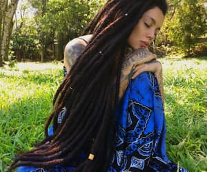 long hair, loc'd hair, and natural hair image