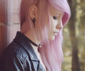 colorful hair, dyed hair, and pastel hair image