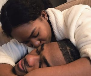 brown, black love, and couples image