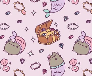 background, cat, and pusheen image