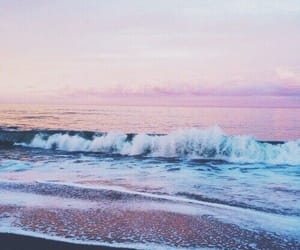 beach, wave, and ocean image