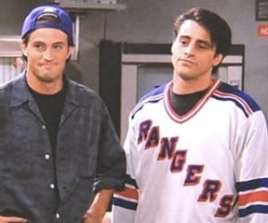 chandler bing, joey tribbiani, and friends tv show image