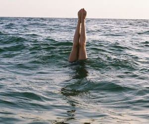 italy, sea, and swim image