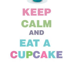 colors, cupcakes, and keep kalm image