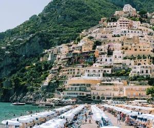 Amalfi, italy, and sun image