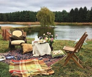 cozy, nature, and river image