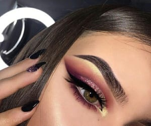 brown, brunette, and makeup image
