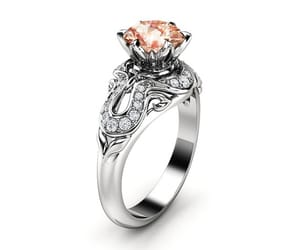 diamond ring, etsy, and unique ring image