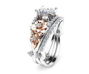diamond ring, etsy, and wedding ring image