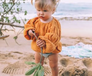 babies, blonde, and beach image