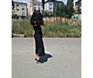 back, black, and girl image