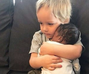 baby, interracial, and cute image