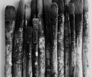 black, dark, and paintbrush image