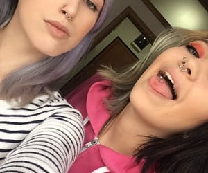 bluehair, nostril, and piercing image