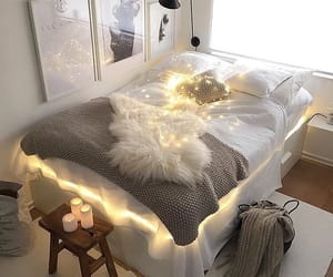 bedroom, gold, and blogger image
