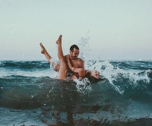 couple, sea, and soulmates image