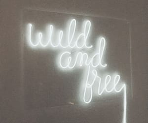 inspiration, neon sign, and wild & free image