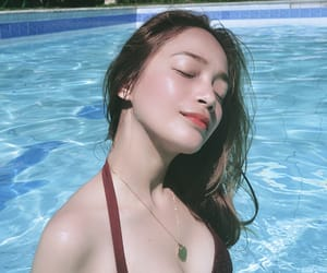 beauty, skin, and water image