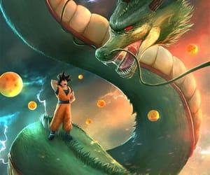 dragon, dragon ball z, and goku image