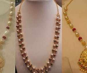 modern pearl necklaces and white gold pearl necklace image