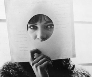 anna karina, black and white, and girl image