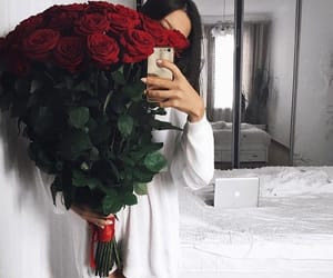 flowers, red flowers, and love image