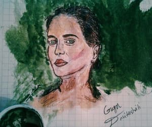 green, painting, and evagreen image